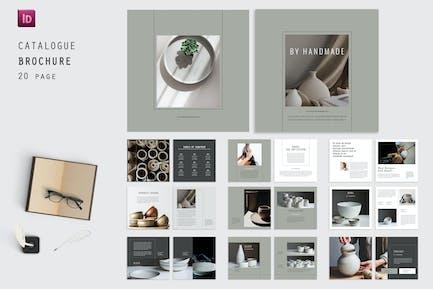 Handgemachtes quadratisches Katalog