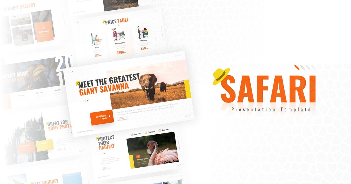 Safari Zoo Multipurpose PowerPoint Template by RRgraph