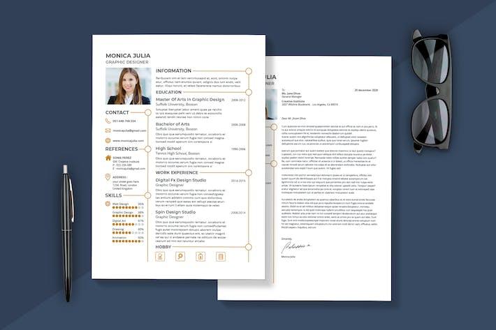 Thumbnail for Minimalist Resume & Cover Letter