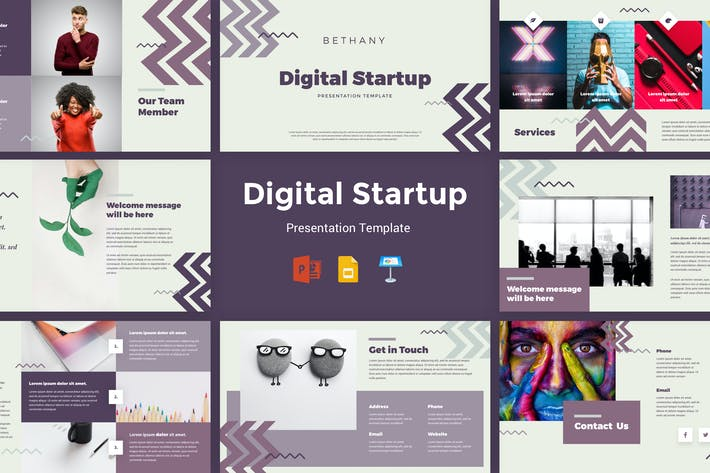 Thumbnail for Bethany - Digital Startup Presentation Template