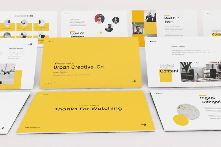 Cover Image For Company Profile Google Slides Template
