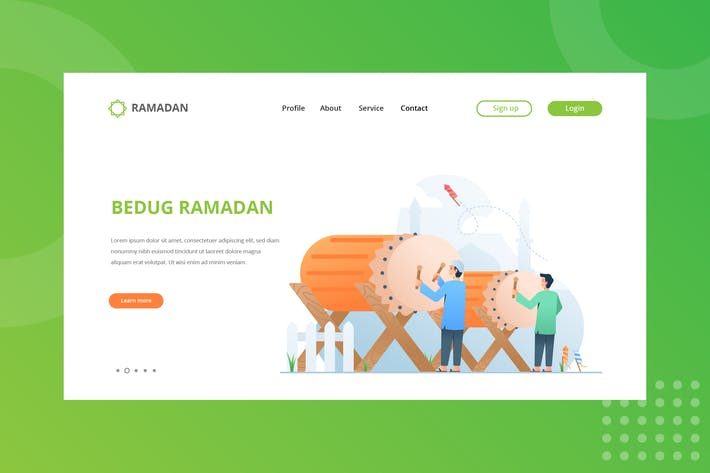 Cover Image For Bedug Ramadan Landing Page