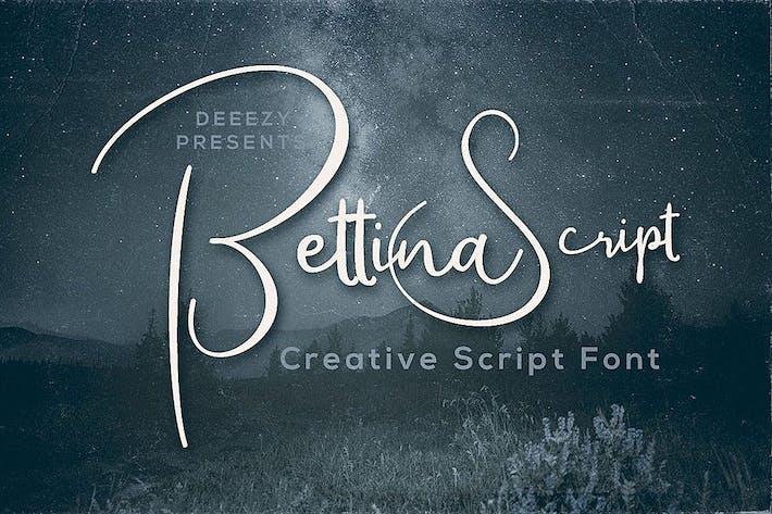 Thumbnail for Bettina Script Font