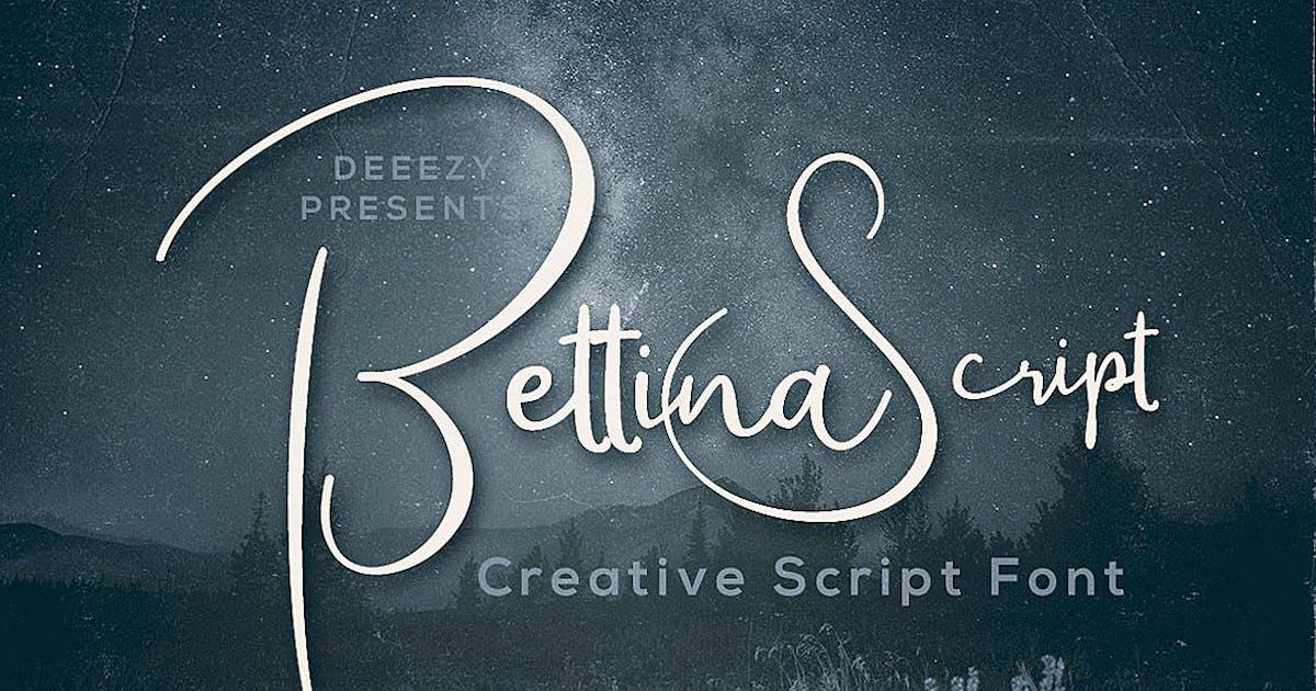 Download Bettina Script Font by cruzine