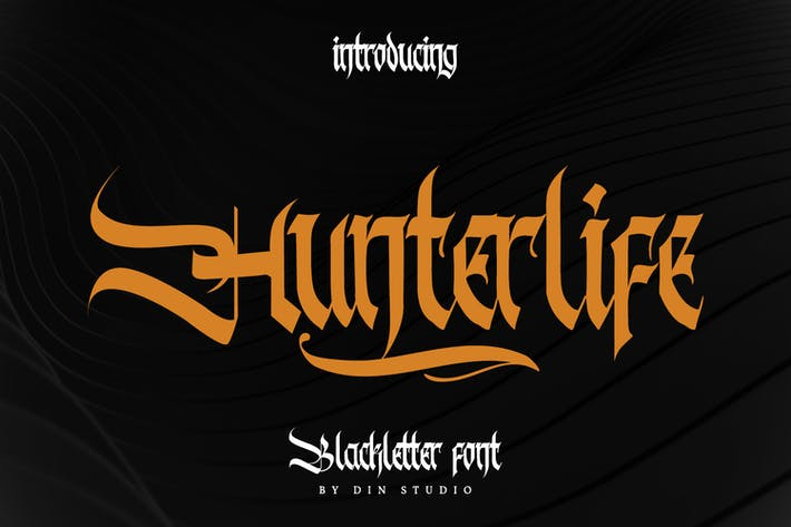 Thumbnail for Hunterlife-Blackletter Font