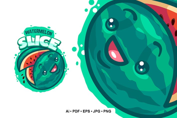 Thumbnail for Watermelon Slice Logo template for Your Business