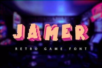 Jamer| fuente de juego retro