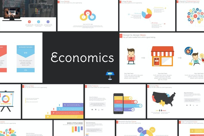 Thumbnail for Economics Pro Keynote Presentation Template