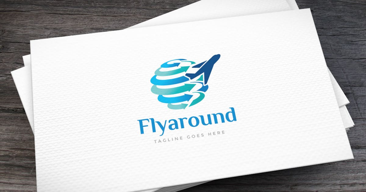 Download Fly Around Logo Template by empativo