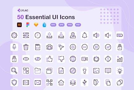 Lylac - Essential UI Icons