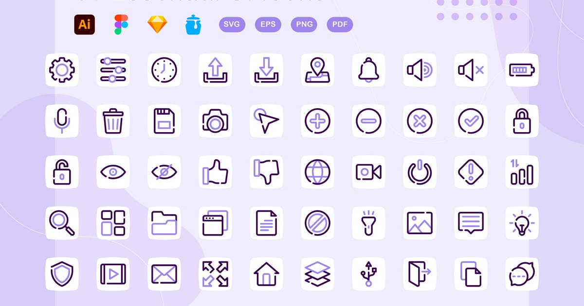 Download Lylac - Essential UI Icons by kerismaker