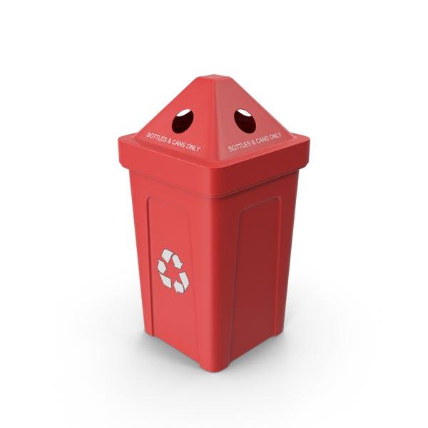 Red Recycling Bin
