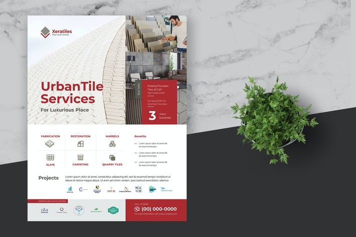 Thumbnail for Clean Tile Company and Services Template