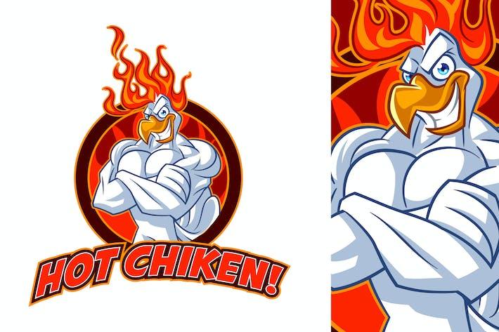 Thumbnail for Tough Hot Chicken Mascot Logo