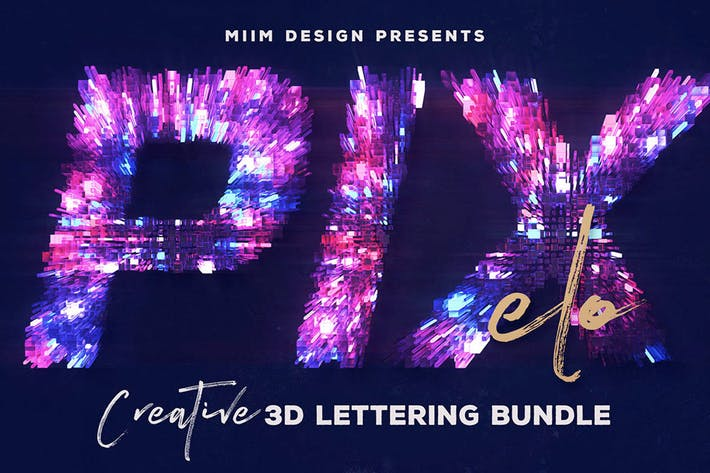 Thumbnail for Pixelo – 3D Lettering