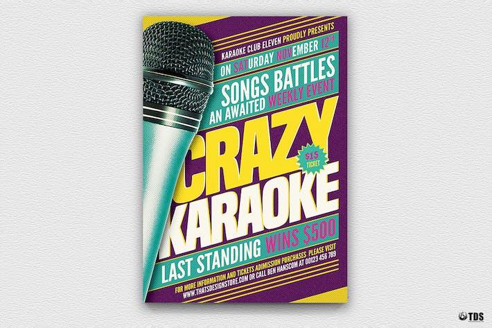 Thumbnail for Karaoke Flyer Template V7