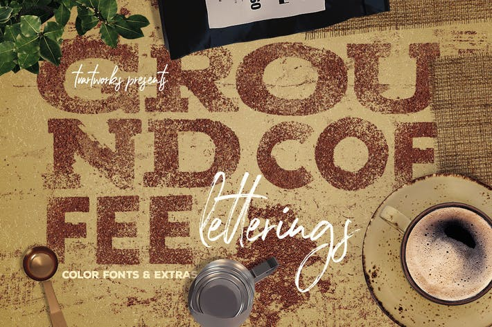 Cover Image For Ground Coffee PNG Letterings