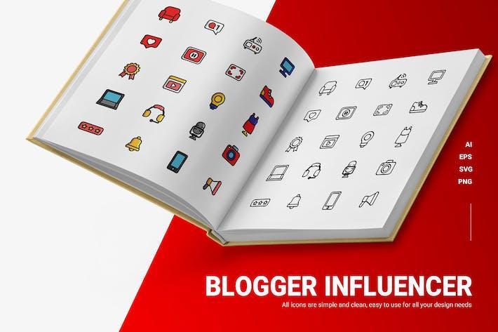 Blogger Influencer - Icons