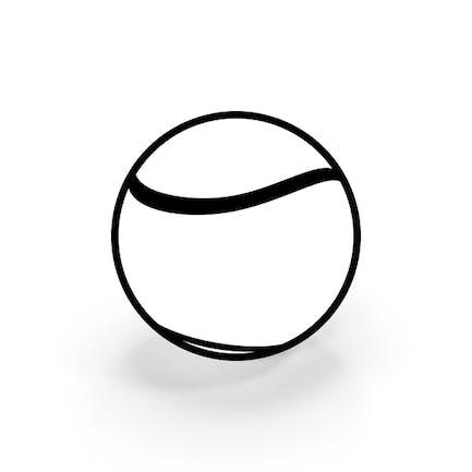 Схема теннисного мяча