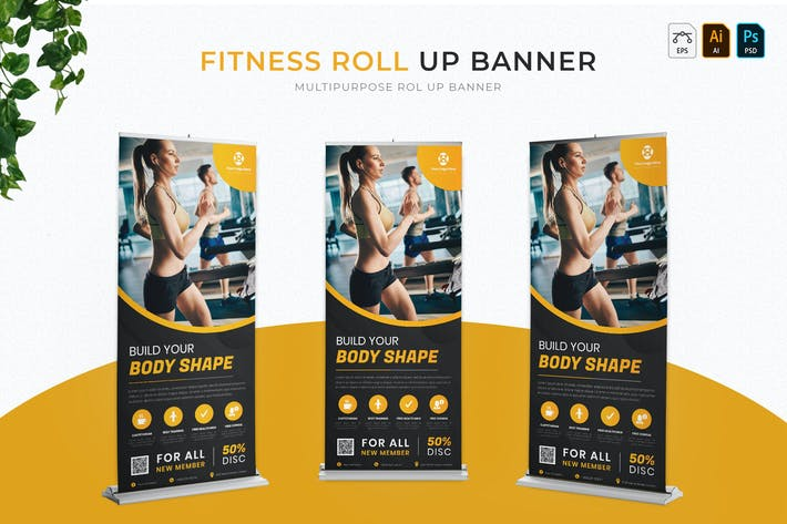 Thumbnail for Fitness | Roll Up Banner