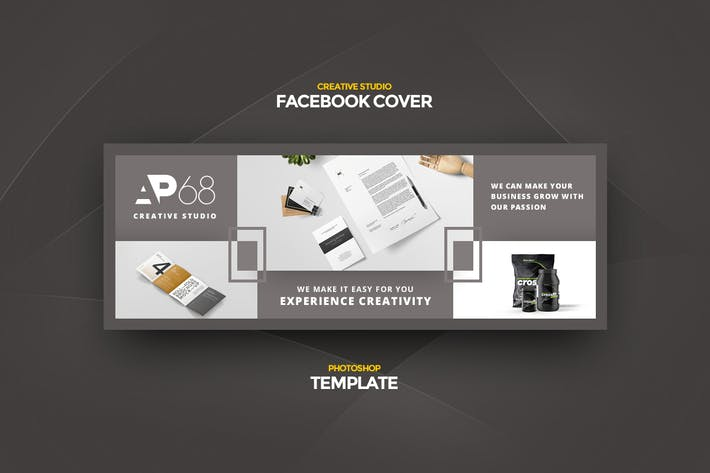 Thumbnail for Creative Studio Facebook Cover template