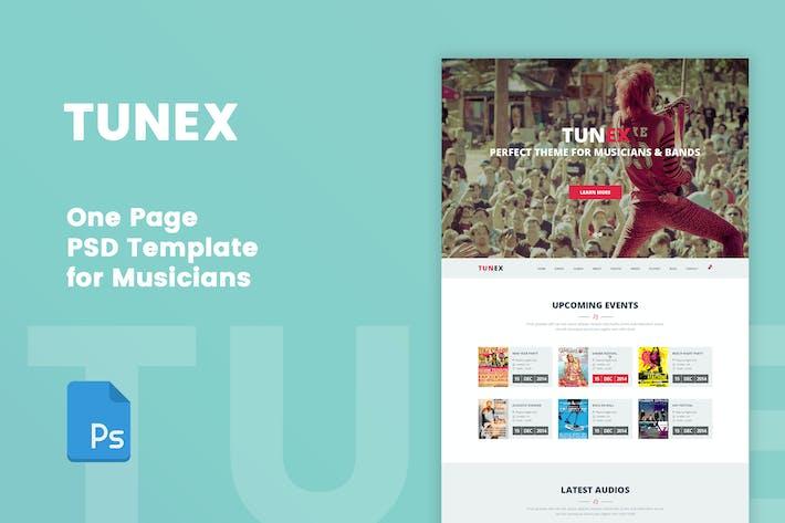 TUNEX - Music & Entertainment PSD Template
