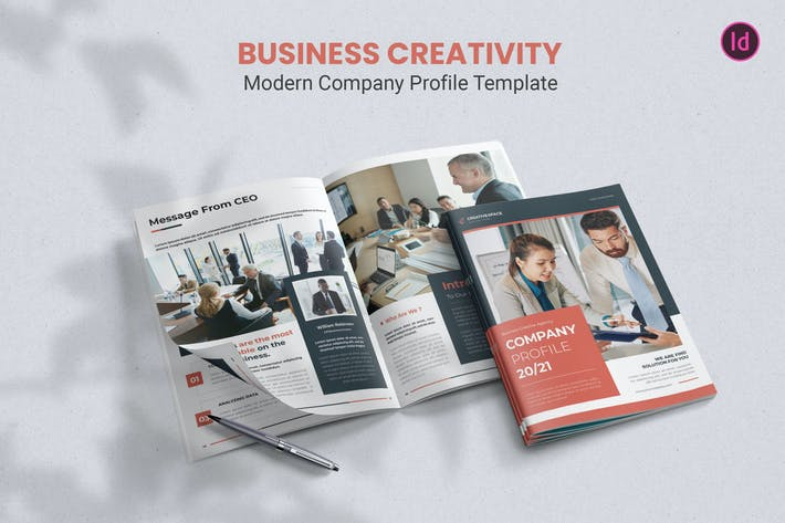 Thumbnail for Business Creativity – Company Profile Template
