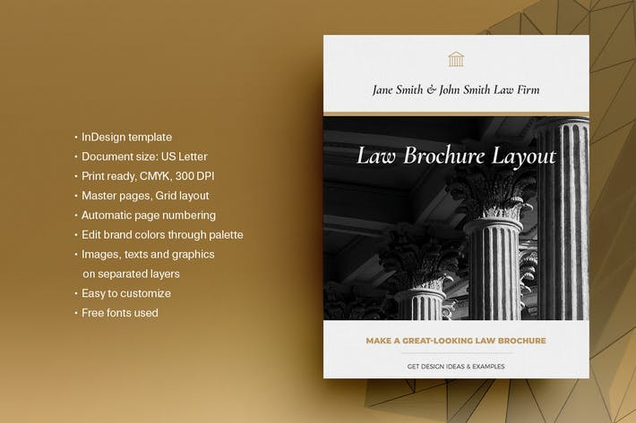 Thumbnail for Law Brochure Layout