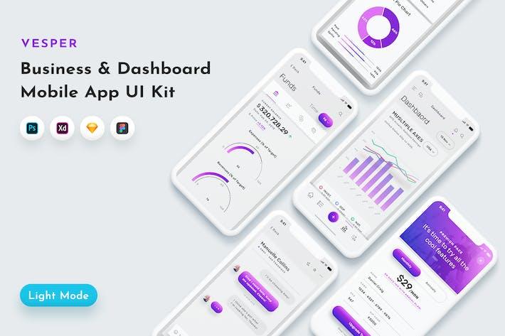 Thumbnail for Vesper Dashboard Mobile App UI Kit