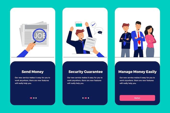 Thumbnail for Job Seeker Apps Onboarding Illustration
