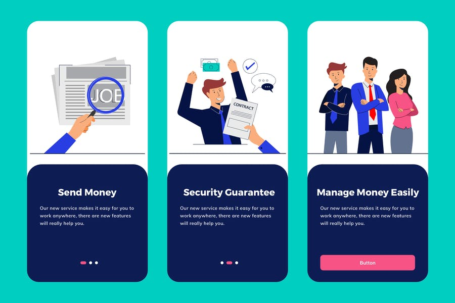 Job Seeker Apps Onboarding Illustration - product preview 0