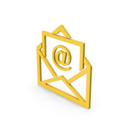 Symbol Email Envelope Yellow