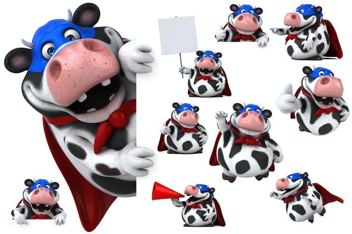 Thumbnail for 10 fun cartoon Cows !
