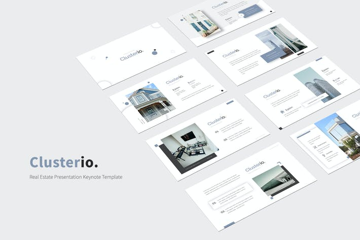 Thumbnail for Clusterio - Real Estate Keynote Template