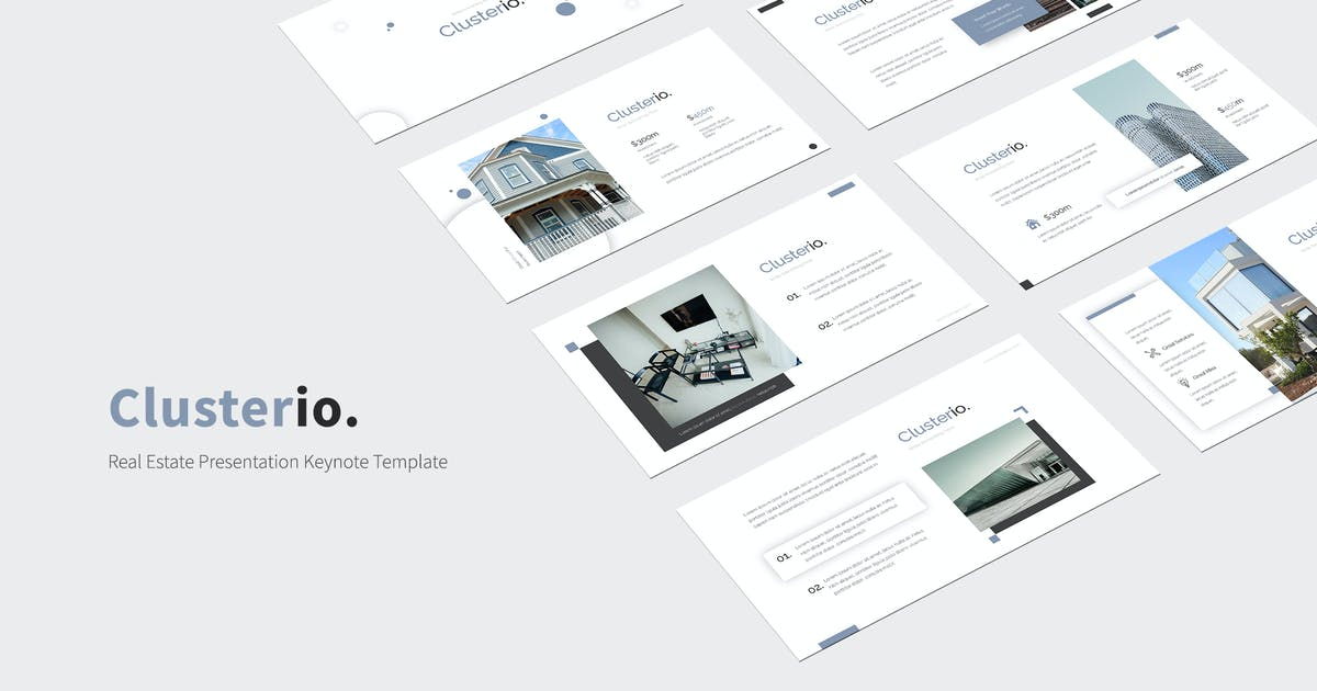 Download Clusterio - Real Estate Keynote Template by kylyman