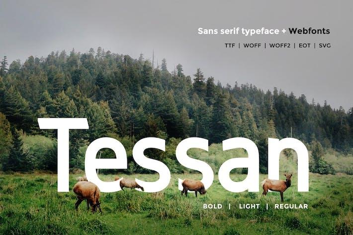 Thumbnail for Tessan Sans - Modern Typeface + WebFont
