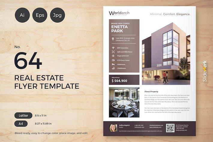 Thumbnail for Real Estate Flyer Template 64 - Slidewerk