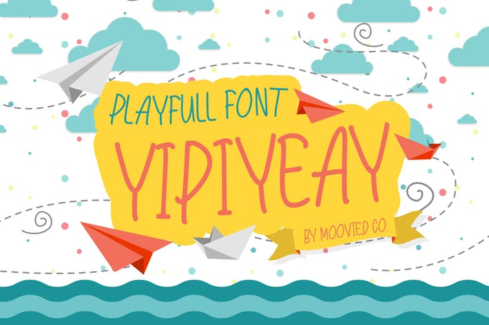 Thumbnail for Yipiyeay Playfull Font