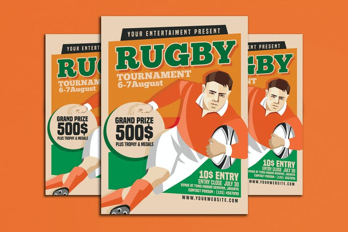 Cover Image For Rugby Tournament Vintage Style