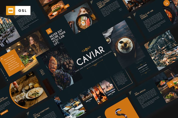 CAVIAR - Catering & Food Google Slides Template