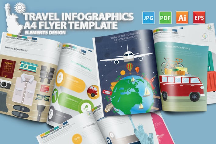 Thumbnail for Travel Infographics Design