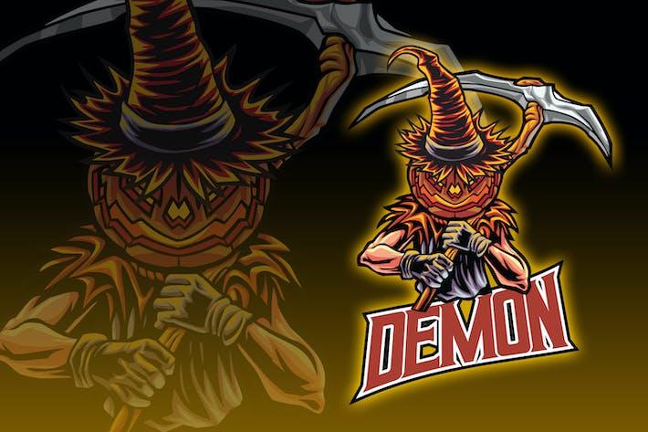 Thumbnail for Pumpkin Head Demon Esport Logo