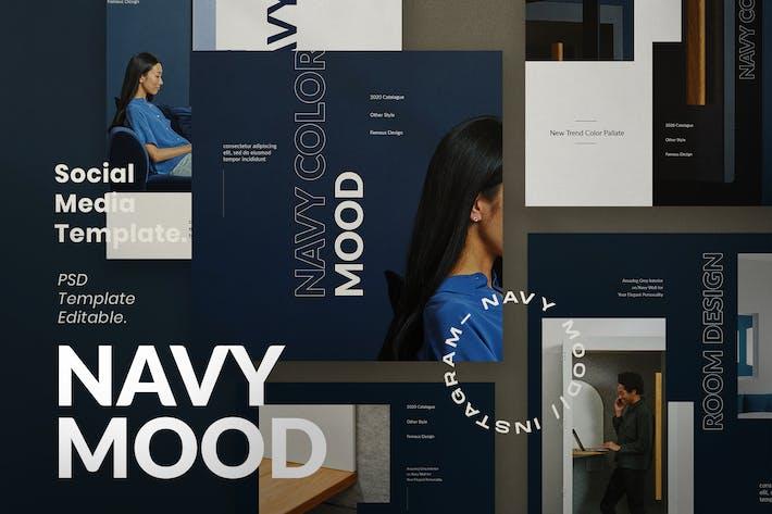 Thumbnail for Navy Mood - Instagram Social Media + Stories