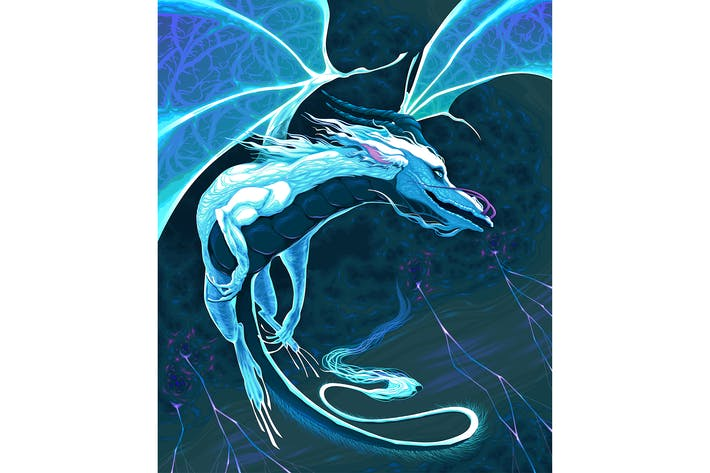 Thumbnail for White Dragon Fying in the Storm