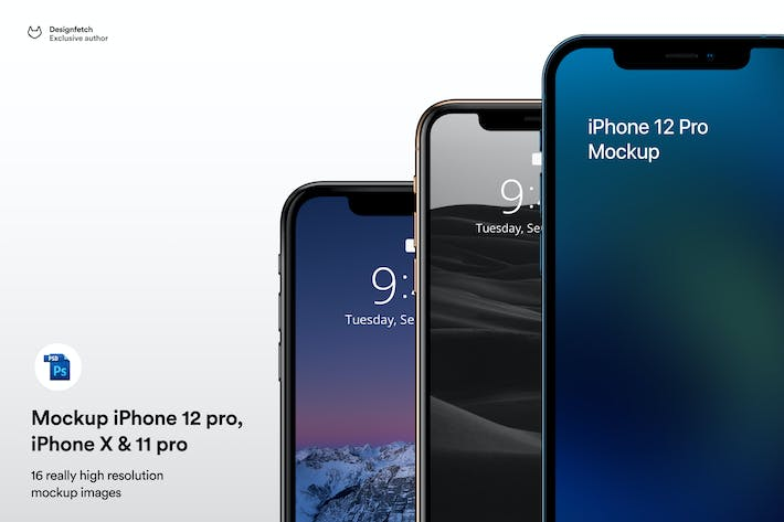 Mockup iPhone 12 pro - iPhone 11 &  iPhone X