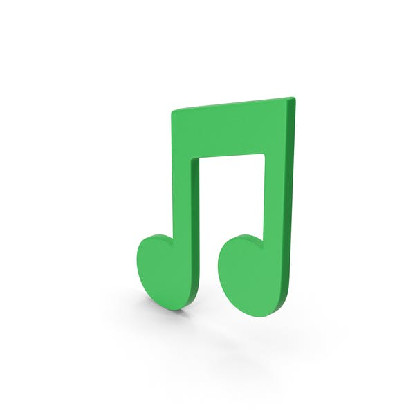 Symbol Music Note Green