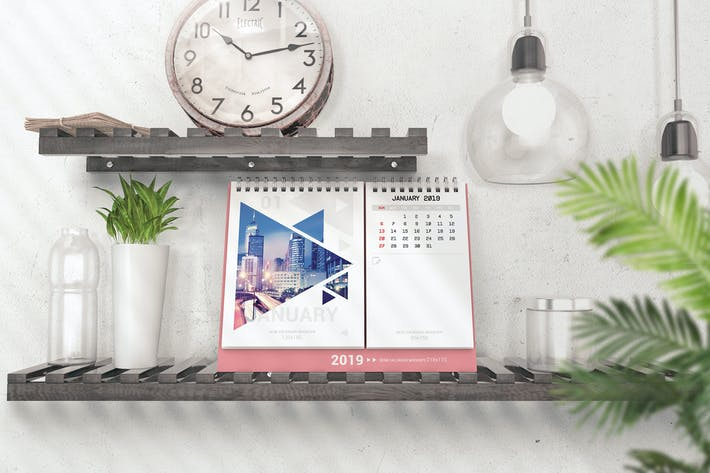 Thumbnail for Various Desktop Calendars Mockup