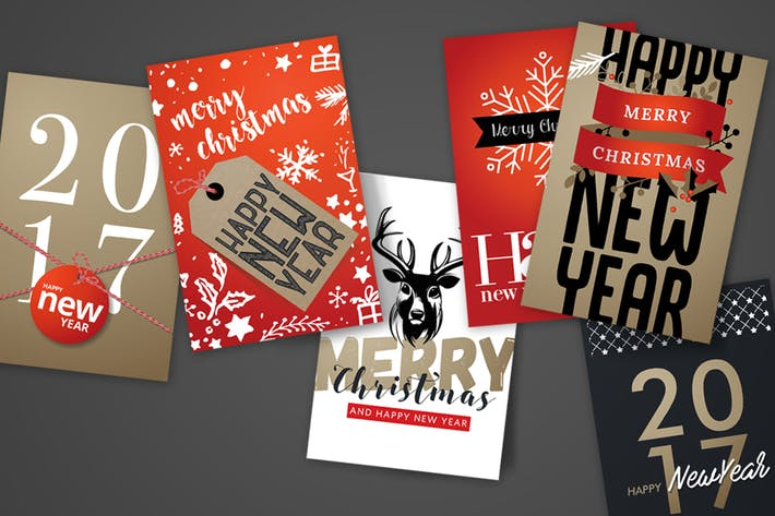 Cover Image For Christmas and New Year's Greeting Cards
