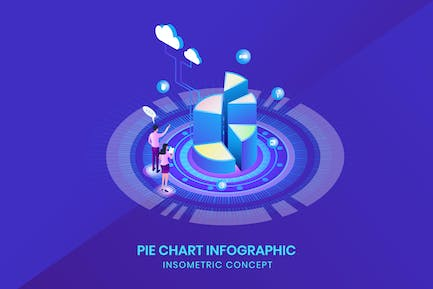 Pie Chart Infographic - Insometric Concept