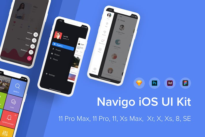 Thumbnail for Navigo iOS UI Kit